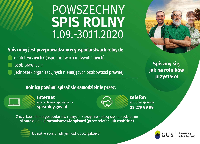 Powszechny Spis Rolny - plakat informacyjny