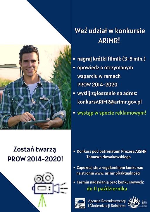 Plakat promujący udział w konkursie ARiMR