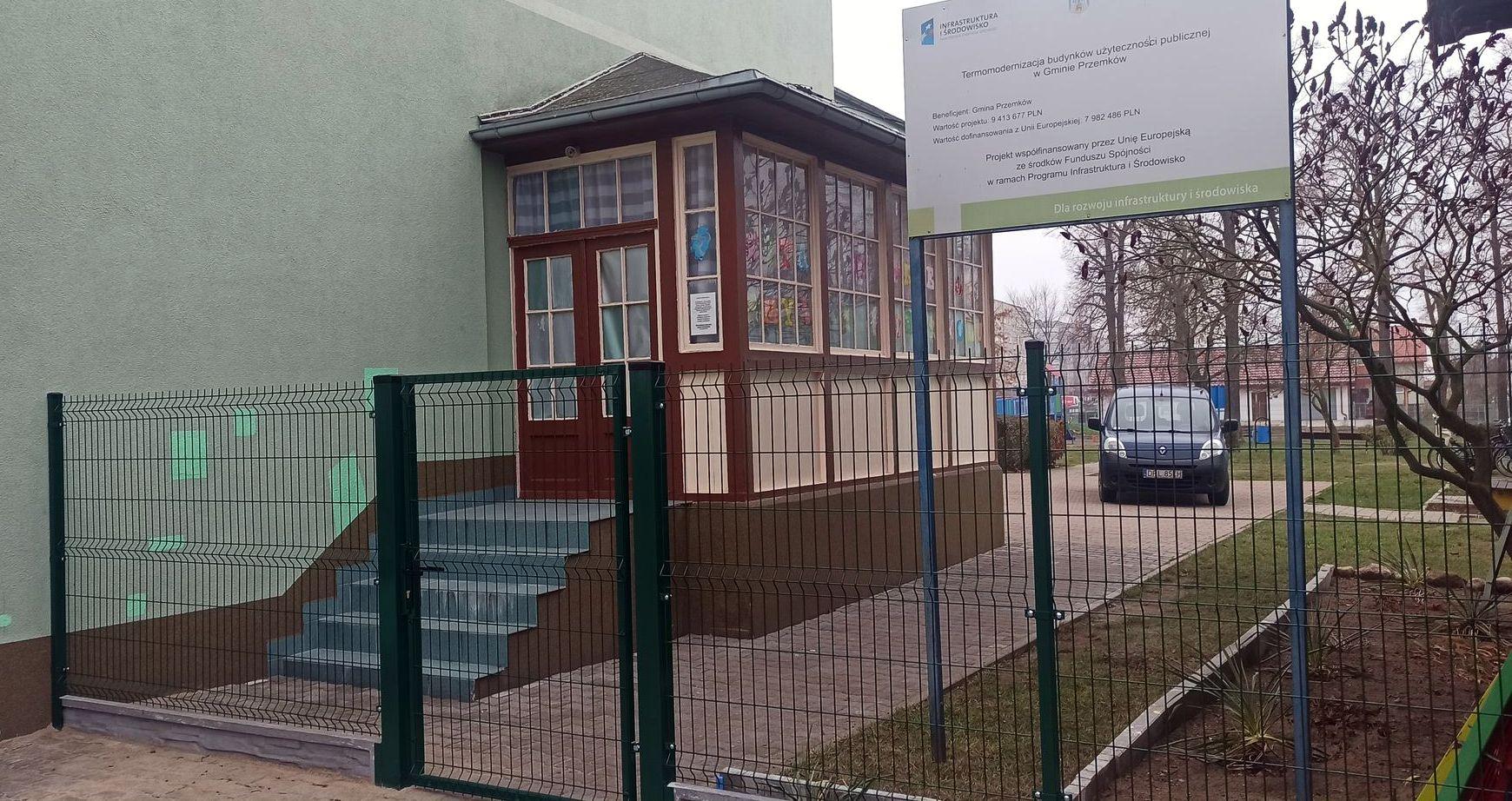 Wymiana ogrodzenia na terenie Publicznego Przedszkola Nr 2 w Przemkowie