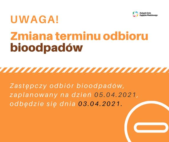 zmiana terminu wywozu bioodpadów