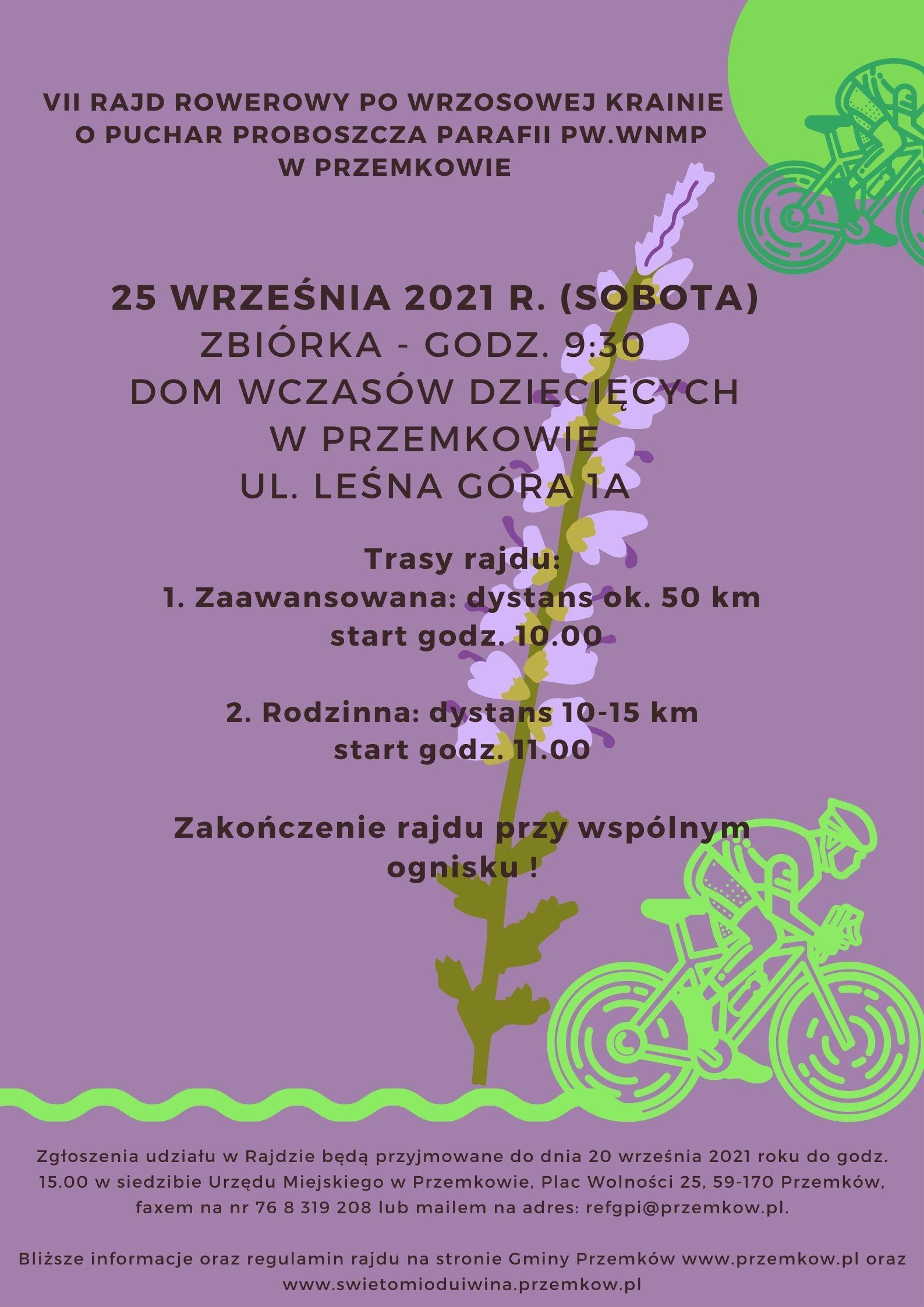 Plakat VII Rajd rowerowy